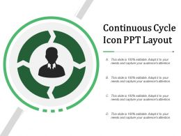 Continuous Cycle Icon Ppt Layout