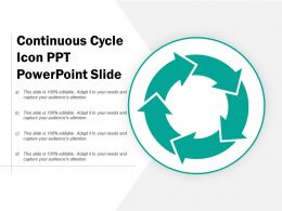 Continuous Cycle Icon Ppt Powerpoint Slide