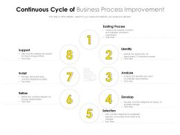 Continuous Cycle Of Business Process Improvement