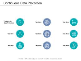 Continuous Data Protection Ppt Powerpoint Presentation Inspiration Slideshow Cpb