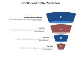 Continuous Data Protection Ppt Powerpoint Presentation Show Graphics Pictures Cpb