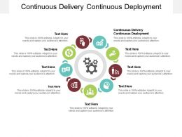 Continuous Delivery Continuous Deployment Ppt Powerpoint Presentation File Show Cpb