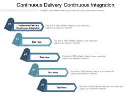 Continuous Delivery Continuous Integration Ppt Powerpoint Presentation Portfolio Templates Cpb