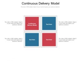 Continuous Delivery Model Ppt Powerpoint Presentation Icon Background Image Cpb