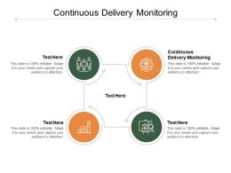 Continuous Delivery Monitoring Ppt Powerpoint Presentation Summary Clipart Cpb