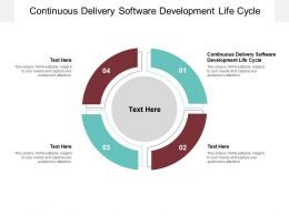 Continuous Delivery Software Development Life Cycle Ppt Powerpoint Presentation Cpb