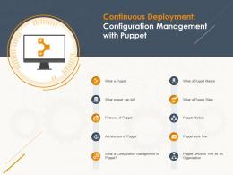 Continuous Deployment Configuration Management With Puppet Ppt Powerpoint Presentation Ideas