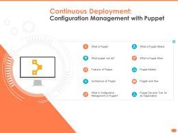 Continuous Deployment Configuration Management With Puppet Slave Master Ppt Slides