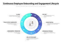 Continuous Employee Onboarding And Engagement Lifecycle