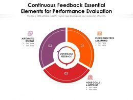 Continuous Feedback Essential Elements For Performance Evaluation