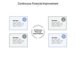 Continuous Financial Improvement Ppt Powerpoint Presentation Visual Aids Outline Cpb