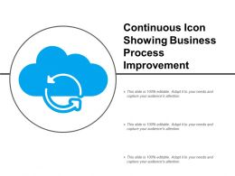 Continuous Icon Showing Business Process Improvement