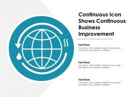 Continuous Icon Shows Continuous Business Improvement