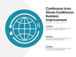 Continuous Icon Shows Continuous Business Improvement