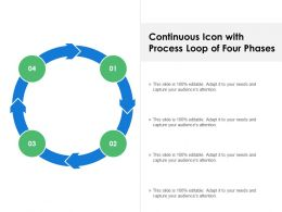 Continuous Icon With Process Loop Of Four Phases