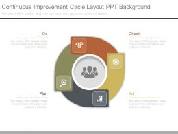 Continuous Improvement Circle Layout Ppt Background