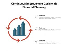 Continuous Improvement Cycle With Financial Planning