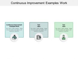 Continuous Improvement Examples Work Ppt Powerpoint Presentation Show Topics Cpb