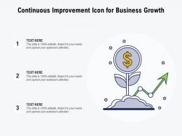 Continuous Improvement Icon For Business Growth