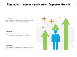 Continuous Improvement Icon For Employee Growth