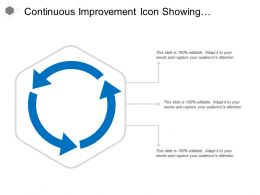 Continuous Improvement Icon Showing Circular Arrow