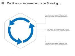 Continuous Improvement Icon Showing Circular Arrow