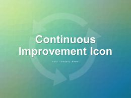 Continuous Improvement Icon Showing Circular Arrow With Gear Circular Arrows With Graph