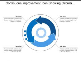 Continuous Improvement Icon Showing Circular Arrows