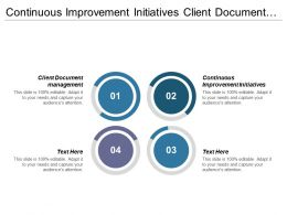 Continuous Improvement Initiatives Client Document Management Acquisition Campaign Strategy Cpb