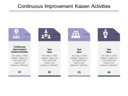 Continuous Improvement Kaizen Activities Ppt Powerpoint Presentation Layouts Graphic Images Cpb