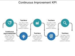 Continuous Improvement KPI Ppt Powerpoint Presentation Pictures Show Cpb