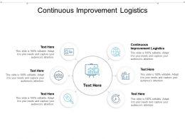 Continuous Improvement Logistics Ppt Powerpoint Presentation Portfolio Picture Cpb