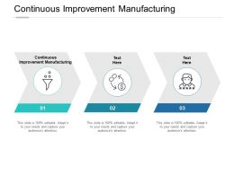 Continuous Improvement Manufacturing Ppt Powerpoint Presentation Slides Portfolio Cpb