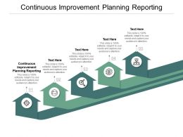 Continuous Improvement Planning Reporting Ppt Powerpoint Presentation Gallery Layout Ideas Cpb