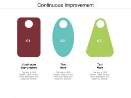 Continuous Improvement Ppt Powerpoint Presentation Icon Vector Cpb
