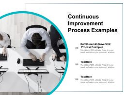 Continuous Improvement Process Examples Ppt Powerpoint Presentation Icons Cpb