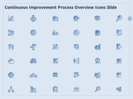 Continuous Improvement Process Overview Icons Slide Ppt Powerpoint Presentation Summary Show