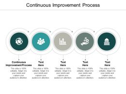 Continuous Improvement Process Ppt Powerpoint Presentation Styles Cpb