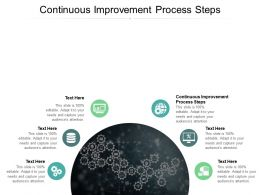 Continuous Improvement Process Steps Ppt Powerpoint Presentation Inspiration Example Cpb
