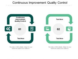 Continuous Improvement Quality Control Ppt Powerpoint Presentation Slides Download Cpb