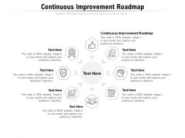 Continuous Improvement Roadmap Ppt Powerpoint Presentation Model Slide Portrait Cpb