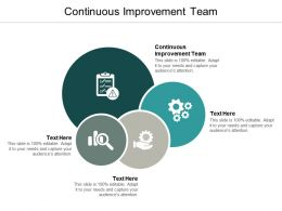 Continuous Improvement Team Ppt Powerpoint Presentation Model Icon Cpb