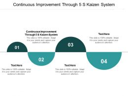 Continuous Improvement Through 5 S Kaizen System Ppt Powerpoint Presentation Infographic Cpb
