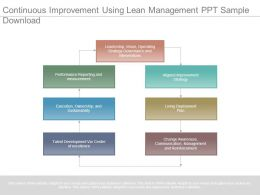 Continuous Improvement Using Lean Management Ppt Sample Download