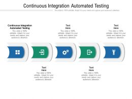 Continuous Integration Automated Testing Ppt Powerpoint Presentation File Guidelines Cpb