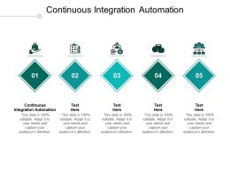 Continuous Integration Automation Ppt Powerpoint Presentation Gallery Graphics Tutorials Cpb