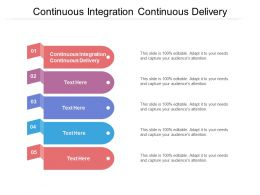 Continuous Integration Continuous Delivery Ppt Powerpoint Presentation Ideas Cpb
