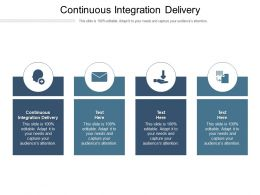 Continuous Integration Delivery Ppt Powerpoint Presentation Portfolio Design Ideas Cpb