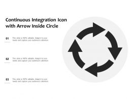 Continuous Integration Icon With Arrow Inside Circle