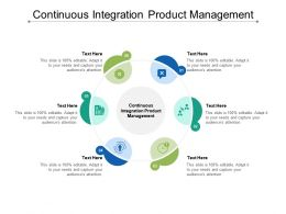 Continuous Integration Product Management Ppt Powerpoint Presentation Pictures Icons Cpb